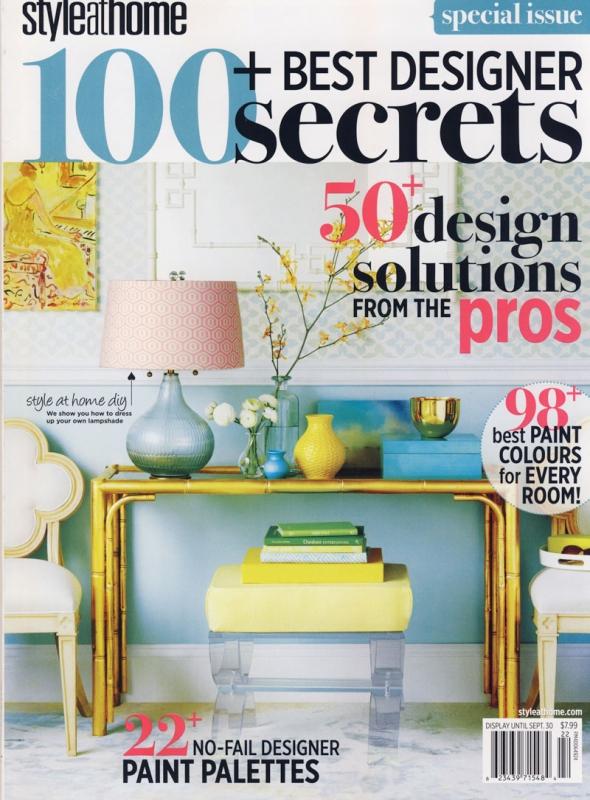 Style at Home Designer Secrets 2012