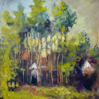 Masood Omer - Forest with House