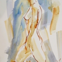 Mel Delija - Walking Nude