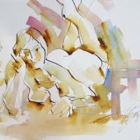 Mel Delija - Nude Reclining