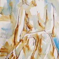 Mel Delija - Nude Seated