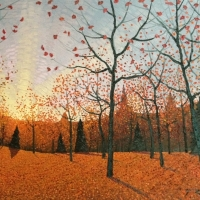 Mark Berens - Red Autumn Forest