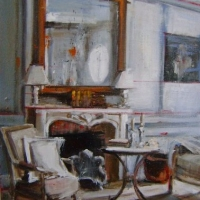 Hanna Ruminski - Interior With an Old Mirror