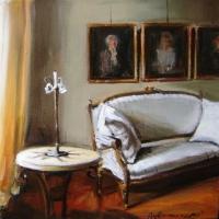 Hanna Ruminski - Interior with Settee