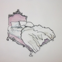 Jennifer Wardle - Pink Bed
