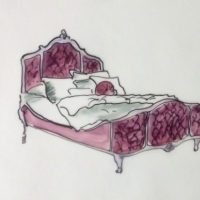 Jennifer Wardle - Purple Bed