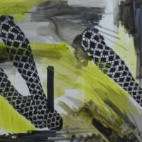 Agnieszka Foltyn - Double Stockings (Lime green and black(