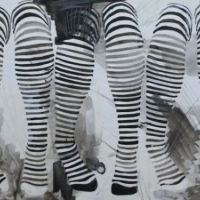 Agnieszka Foltyn - Three Stockings (Black and White)