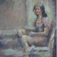 Masood Omer - Seated Girl