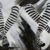 Agnieszka Foltyn - Black and White Two Stockings