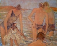 Susan McLean Woodburn - Early Morning Swim -5 Bathers