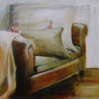 Hanna Ruminski - Room with Leather Sofa