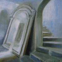 Hanna Ruminski - Interior with Large Mirror
