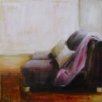Hanna Ruminski - Room with Purple Sofa