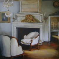 Hanna Ruminski - Interior with the Fireplace