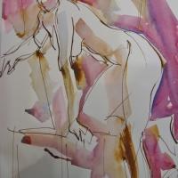 Mel Delija - Nude Keeling