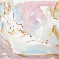 Mel Delija - Nude Semi Reclining