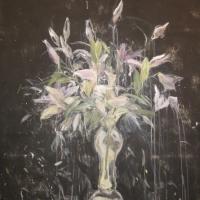 Martha Johnson - Garden at Night Series, Rubrum Lillies