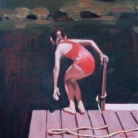 Elizabeth Lennie - Study for MacMillan Pond