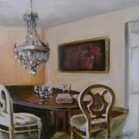 Hanna Ruminski - Interior with Glass on the Table