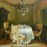 Hanna Ruminski - Interior with Three Chairs