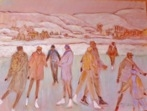 Susan McLean Woodburn - Evening Skate - Laurentians