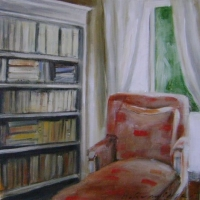 Hanna Ruminski - Interior with Bookshelf