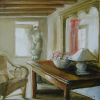 Hanna Ruminski - Interior with Sculpture