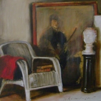 Hanna Ruminski - Interior with Large Painting