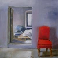 Hanna Ruminski - Interior with red chair