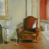 Hanna Ruminski - Interior with leather armchair