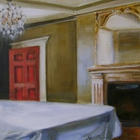Hanna Ruminski - Interior with red door