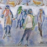 Susan McLean Woodburn - Grouping of skaters /Evening