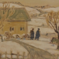Susan McLean Woodburn - Winter On The Farm