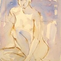 Mel Delija - Seated Nude