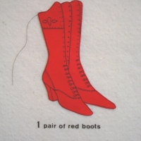 Gordana Olujic Dosic - 1 Pair of Red Boots