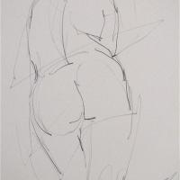Mel Delija - Back of Nude