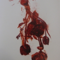 Madeleine Lamont - Mylar Flower Series Red 1