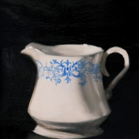 Dorion Scott - Cream and Ornate Blue
