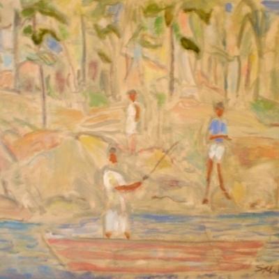 Susan McLean Woodburn - Fishing in July