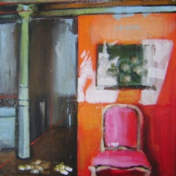 Hanna Ruminski - Room with Orange Wall