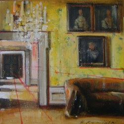 Hanna Ruminski - Interior with Three Paintings