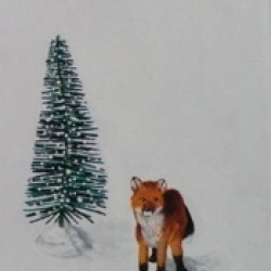 Emily Bickell - Brush Tree and Fox