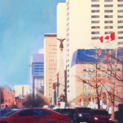Richard Herman - Spring Sunshine on University Ave.