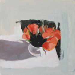 Hilda Oomen - Orange Roses, Sugar Bowl