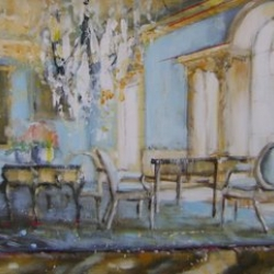 Hanna Ruminski - Blue Room with Persian Rug