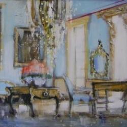 Hanna Ruminski - Blue Room with Flowers