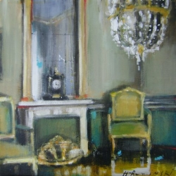 Hanna Ruminski - Black Mantel Clock