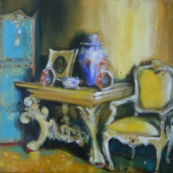 Hanna Ruminski - Yellow Arm Chair
