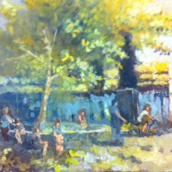 Masood Omer - Untitled (Park Scene 2)